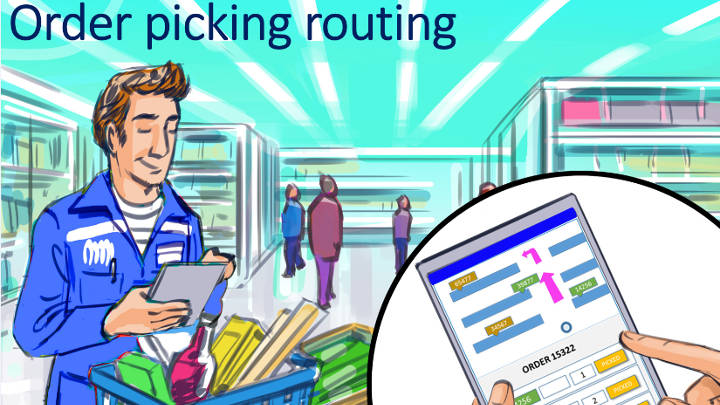 order picking routing - indoor location system
